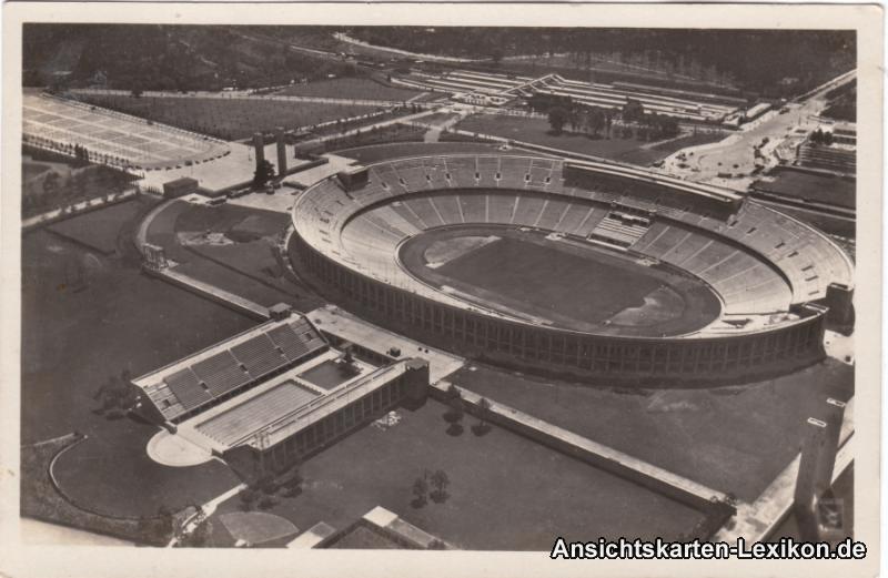Luftbild Ansichtskarte Berlin Charlottenburg Reichssport