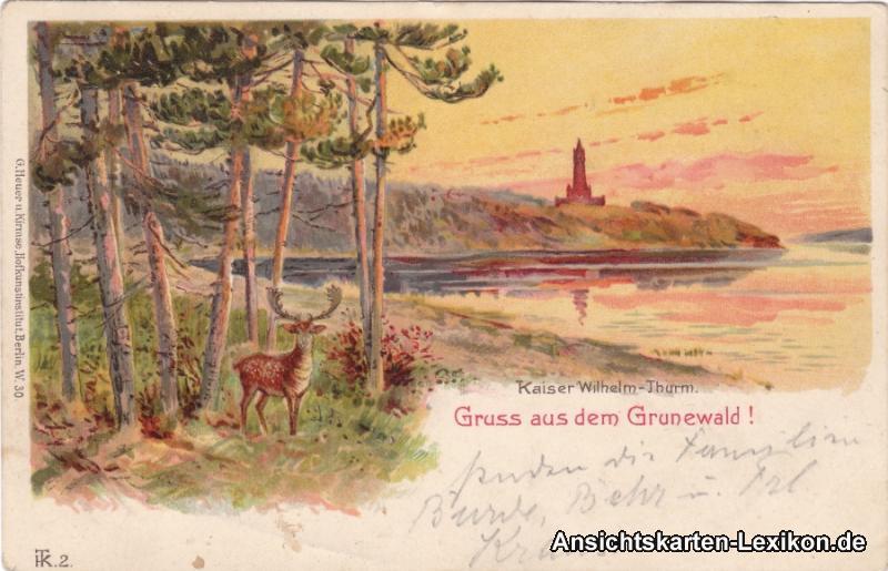 Berlin-Grunewald Gruss aus dem Grunewald - Kaiser Wilhel