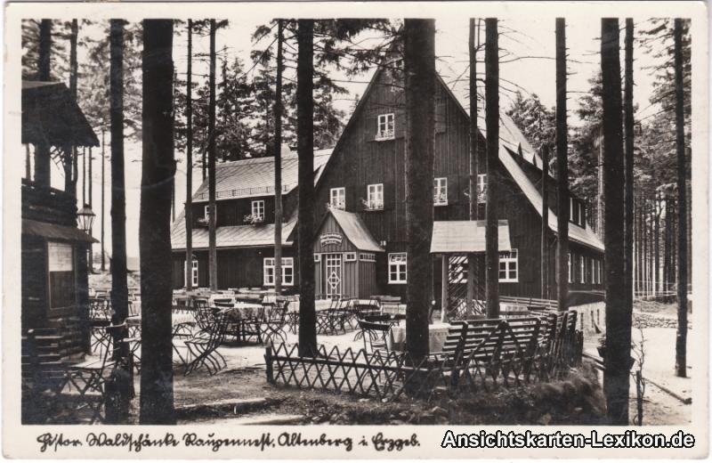 Altenberg (Sachsen) Waldschänke altes Raupennest