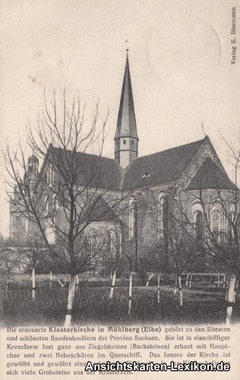 Mühlberg/Elbe Partie an der Klosterkirche