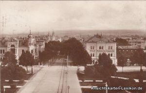 Weimar Blick vom Bahnhof - mit Hotel Kaiserin Augusta