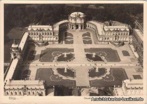 Dresden Luftbild: Zwingeranlaen mit Wallpavillon 1953 Walter Hahn:10229