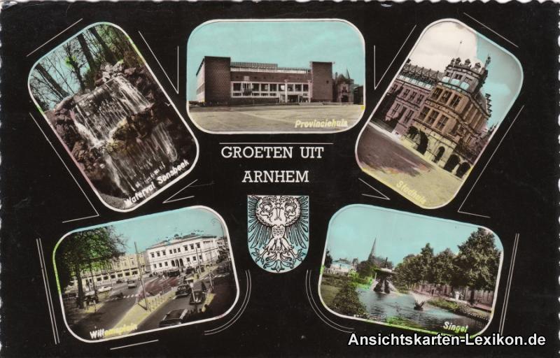 Arnheim 5 Bild: Willemplein, Singst, Stadthuis und Provi