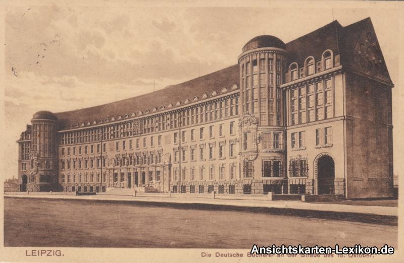 Ansichtskkarte Leipzig Die Deutsche Bücherei an der Stra