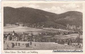 Foto Ansichtskarte Tabarz Thüringer Wald Totale mit Inse