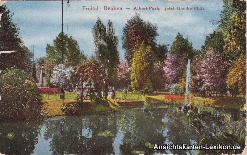 Freital-Deuben Albert-Park - jetzt Goethe-Platz