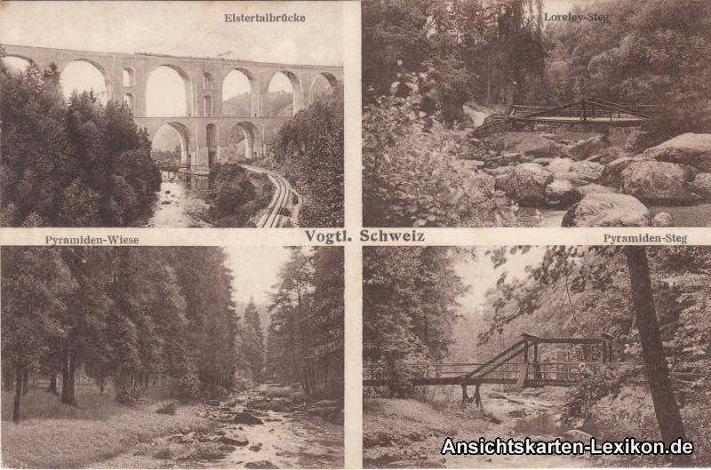 Pöhl-Jocketa 4 Bild: Elstertalbrücke, Pyramiedensteg, Lo