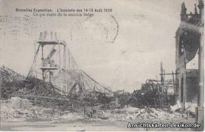 Brüssel Kermesse L´Incendie des 14-15 Aout 1910