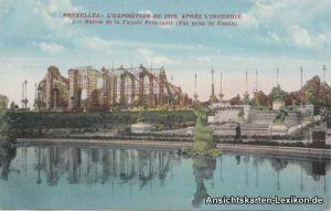 Brüssel Unglück 1910 (Après L´incendie, Ruines de la Fac