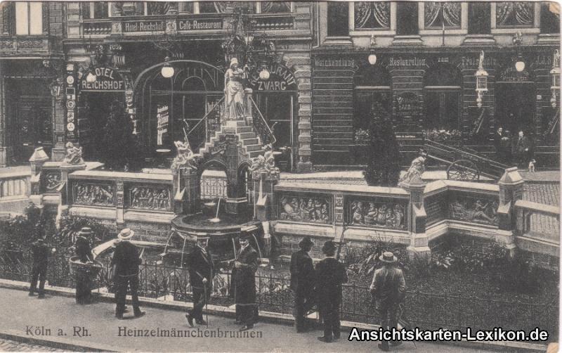 Ansichtskarte Köln Heinzelmännchenbrunnen und Restaurant