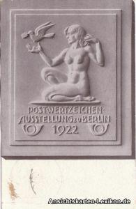 Berlin Postwertzeichen Ausstellung 1922