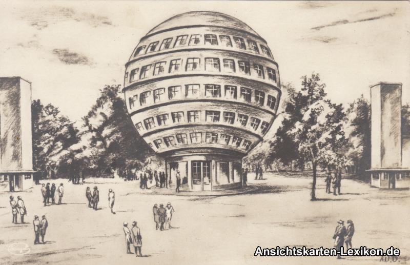 Dresden Künstler AK - Kugelhaus