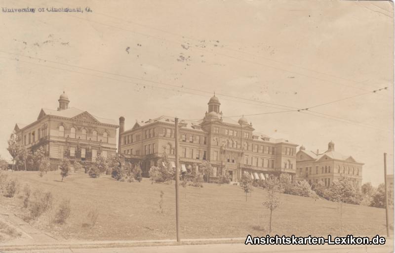 Cincinnati (Ohio) University (Universität) Vintage Postcard Fotokarte 1919