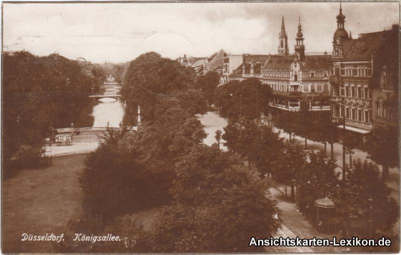 Düsseldorf Blick in die Königsallee