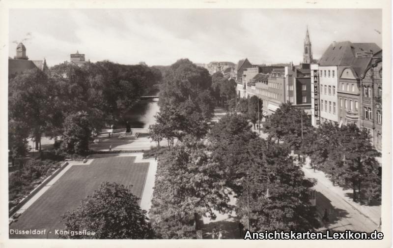 Düsseldorf Königsallee mit Geschäften