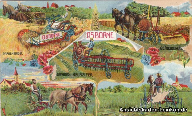 Osborne - Geräte -Landwirtschaft Postcard Ansichtskarte