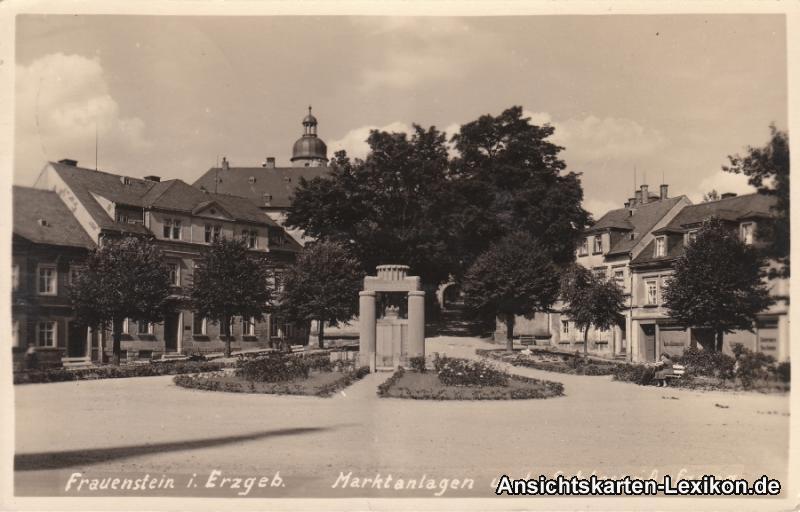 Frauenstein (Erzgebirge) Marktanlagen und Schlossaufgang