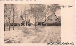 Sayda Straßenpartie im Winter