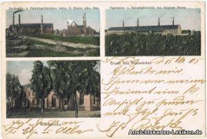 Freiwaldau (Schlesien)  AK: Ziegelfabrik Gozdnica b Sagan Żagań 1905
