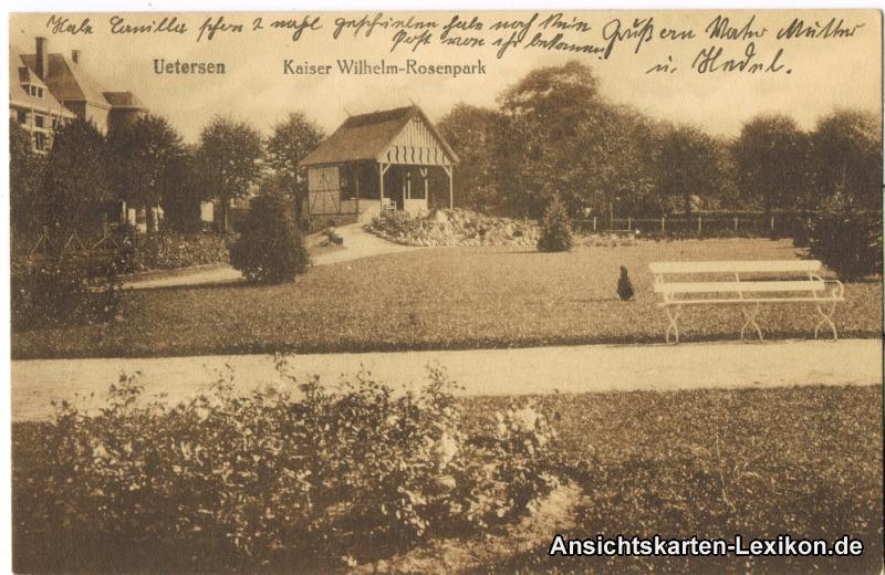 Uetersen Partie im Kaiser Wilhelm Rosenpark