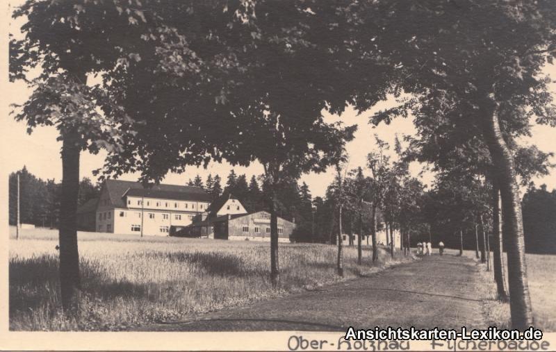 Foto Ansichtskarte Rechenberg-Bienenmühle Partie an der