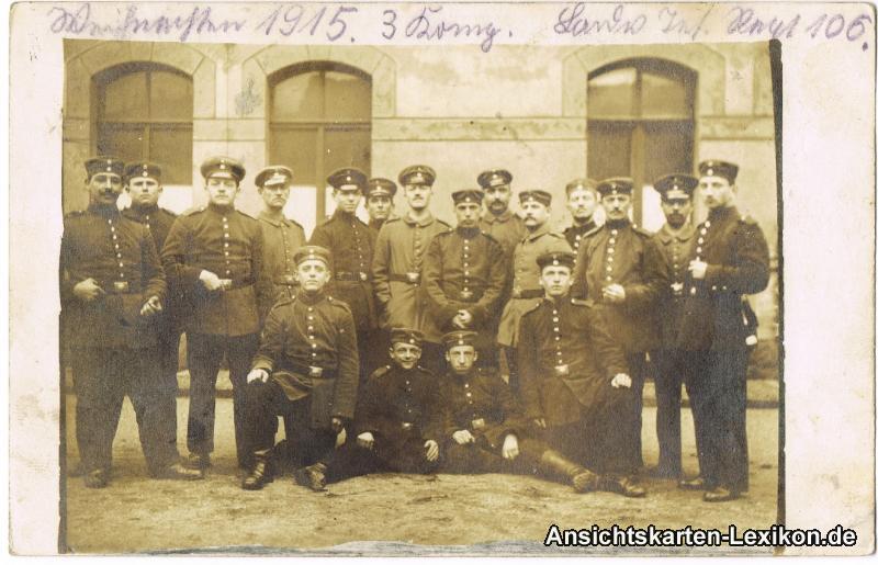 Leipzig-Lindenau Soldaten - Sächsisches Inf. Reg. 106