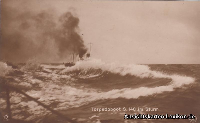 Torpedoboot S. 146 im Sturm