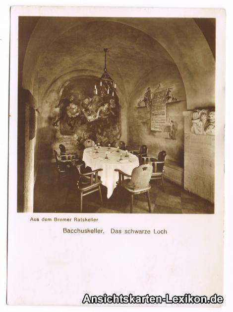 ak ansichtskarte bremen ratskeller bacchuskeller kat bremen nr sa64919 oldthing. Black Bedroom Furniture Sets. Home Design Ideas