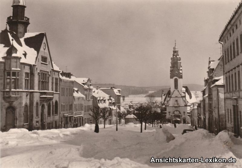 Adorf (Vogtland) Ernst Thälmann Platz - Winter Foto Ansi