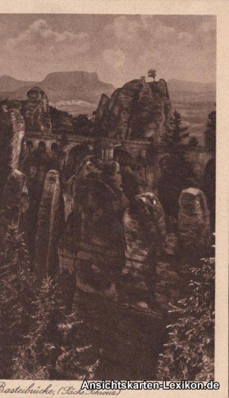 Wehlen Basteibrücke Ansichtskarte b Pirna Bad Schandau c