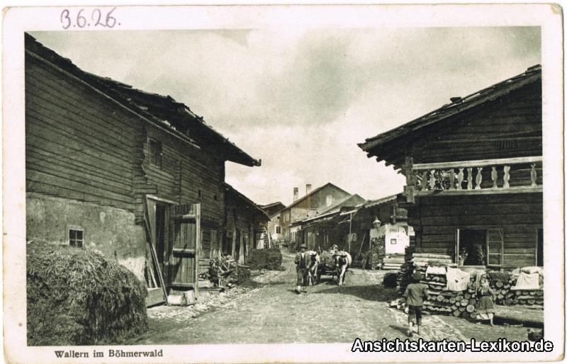 Wallern (Böhmerwald) Straßenpartie