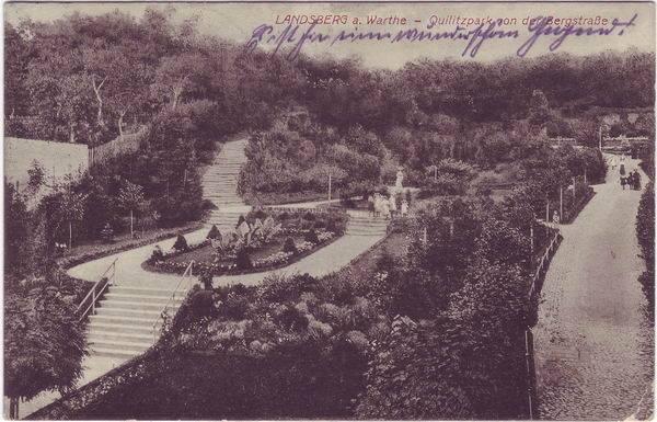 Landsberg (Warthe) Quidlitzpark von der Bergstraße