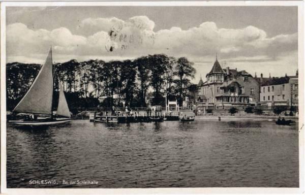 Ansichtskarte Schleswig (Sleswig/Slesvig) Bei der Schleihalle 1934