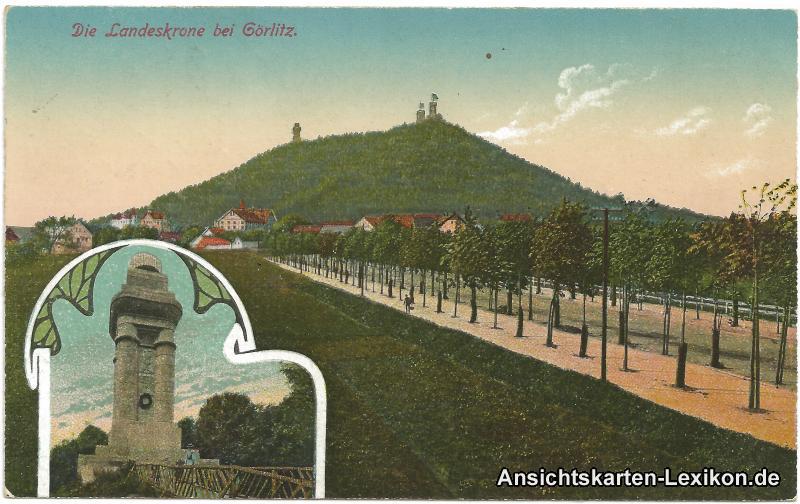Görlitz 2 Bild Landeskrone und Denkmal