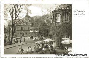 Bergisch Gladbach Partie am Rathaus Foto Ansichtskarte g