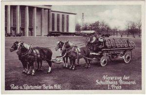 Berlin Reit und Fahrturnier Berlin 1936 - Viererzug der