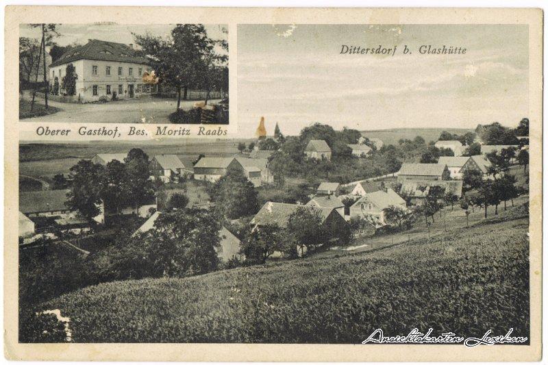 Glashütte (Sachsen)-Dittersdorf 2 Bild: Gasthof und Dorf