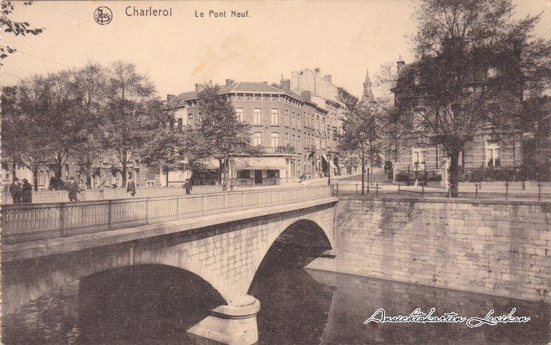 Charleroi Le Pont de Neuf - Eckgeschäft und Straße