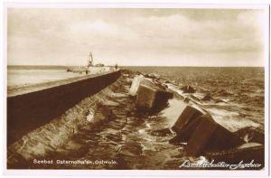 Osternothafen (Ostswine)-Swinemünde Warszów Świnoujście Blick über Ostmole 1930