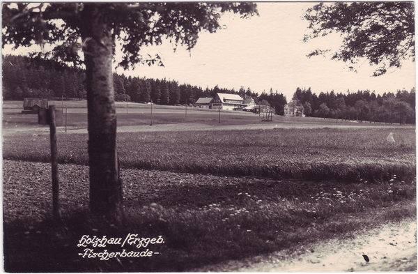 Rechenberg-Bienenmühle Fischerbaude Ansichtskarte 1954