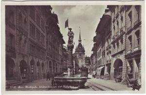 Bern Marktstraße, Schützenbrunnen und Käfigturm Foto Ans