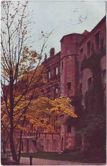Heidelberg Heidelberg - Schlossruine Ansichtskarte 1917