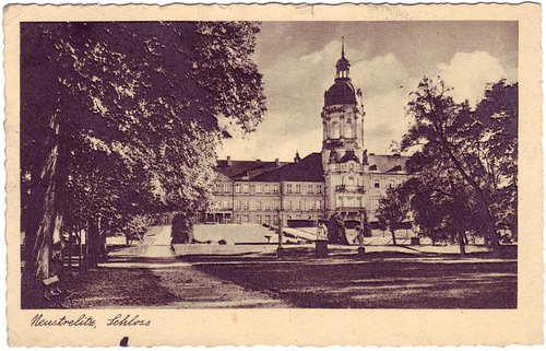 Neustrelitz Schloss Ansichtskarte 1936