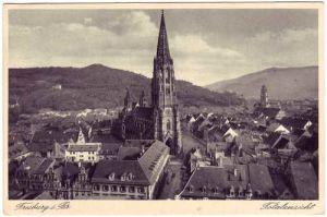 Freiburg im Breisgau Totalansicht Ansichtskarte c1936