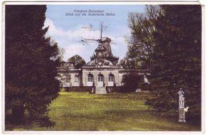 Ansichtskarte Potsdam Sanssouci - Blick auf die historische Mühle