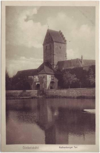 Dinkelsbühl Rothenburger Tor Ansichtskarte 1928