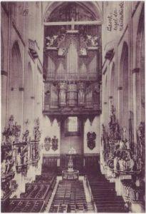 Lübeck Orgel Marienkirche Ansichtskarte c1918