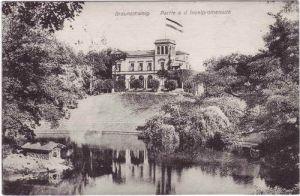 Braunschweig Partie an der Inselpromenade Ansichtskarte 1910