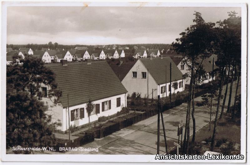 Schwarzheide BRABAG - Siedlung - Foto AK