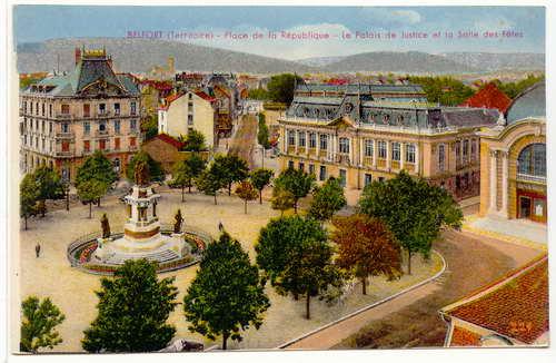 Beffert Place de la République - Le Palais de Justice et